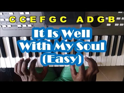 How To Play It Is Well With My Soul On Piano - Very Easy Tutorial ...