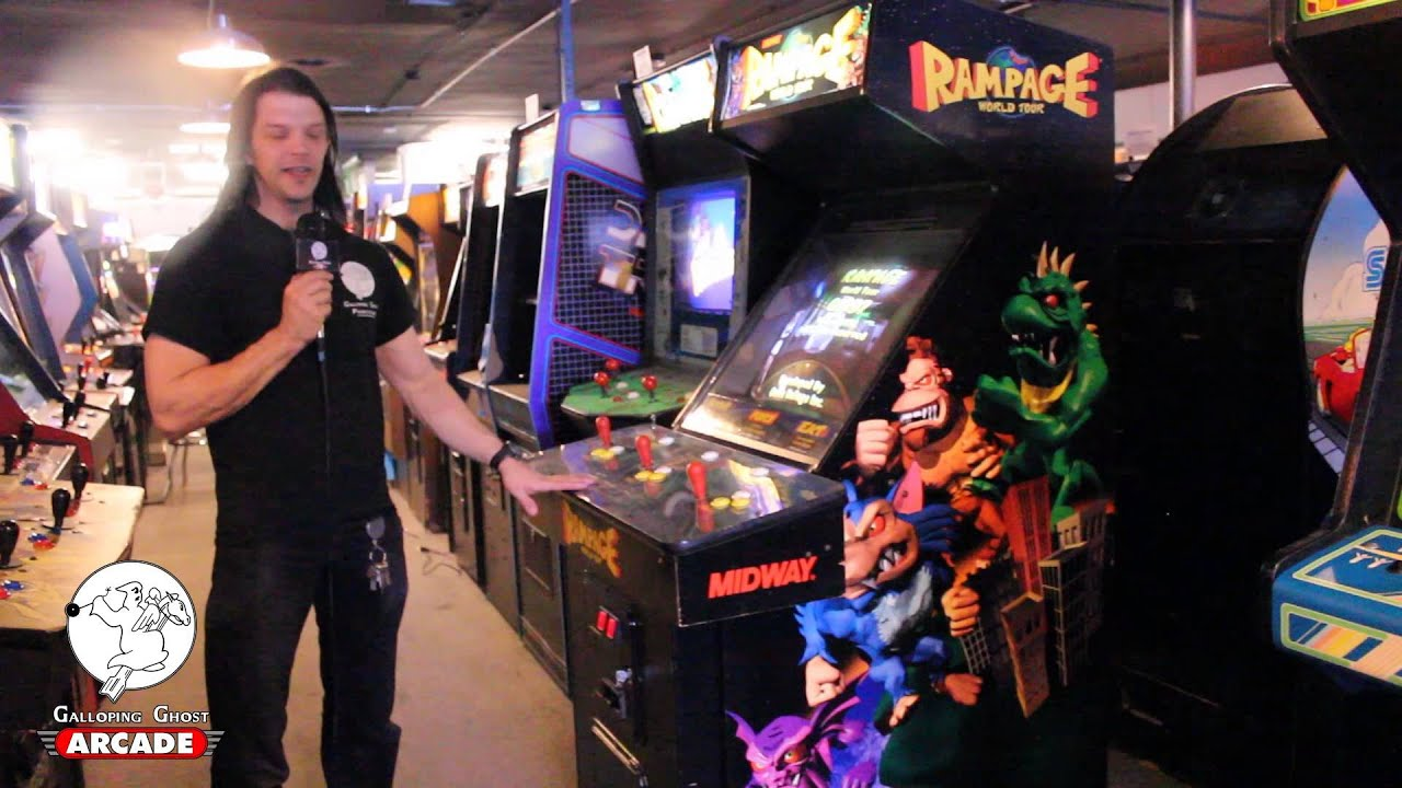 Perfect Rampage World Tour Dedicated Arcade Cabinet   Galloping Ghost Arcade