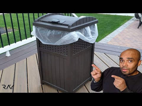 Quick Look at the Suncast 33 Gallon Outdoor Trash Can, Resin Outdoor Trash Hideaway with Lid