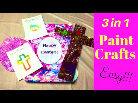 Paint Crafts  - Easy 3 in 1!  Easter Family Fun!