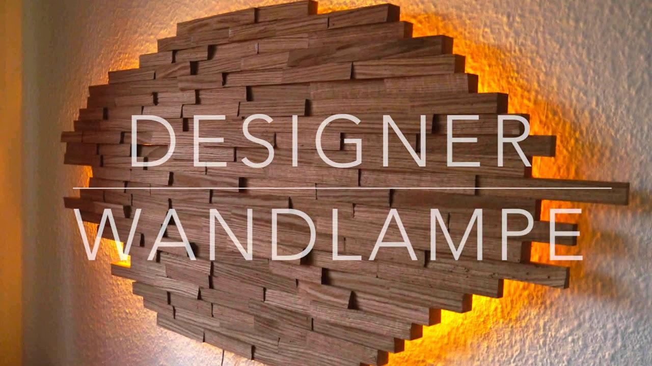 Diy Designer Wand Lampe Selber Bauen Anleitung Mrhandwerk Youtube