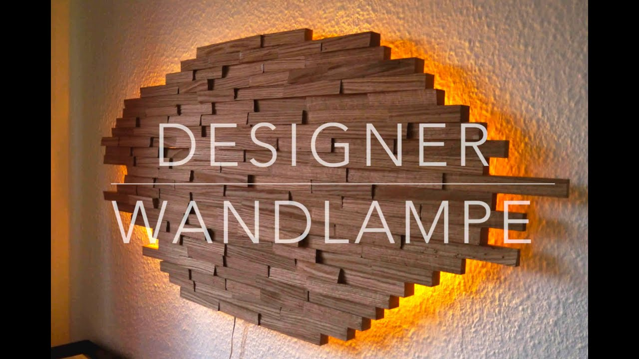 diy designer wand lampe selber bauen anleitung mrhandwerk youtube. Black Bedroom Furniture Sets. Home Design Ideas