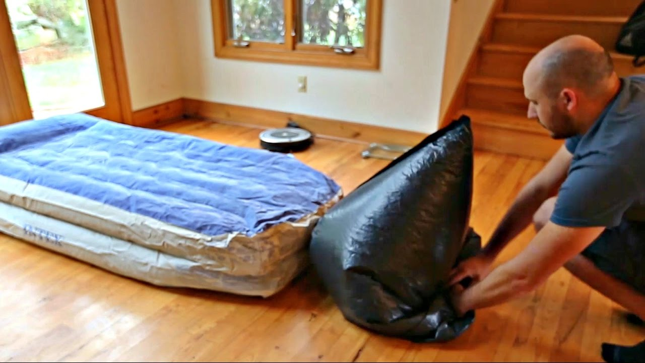 air mattress chair bean bag cost how to inflate an with garbage - youtube