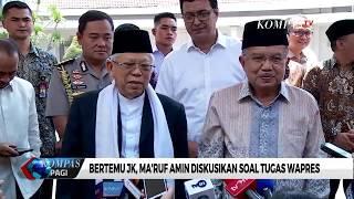 JK Ajak Ma'ruf Amin Kenalan dengan Staf Istana Wapres