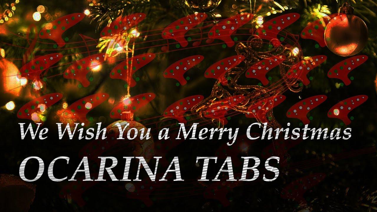 We Wish You A Merry Christmas Ocarina Tabs 12 Hole