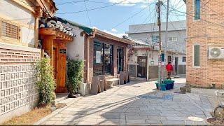 [4K] Walking on the Alley of Seochon Village in Seoul Korea 서울 종로구 서촌의 한적한 오후 걷기 首尔西村