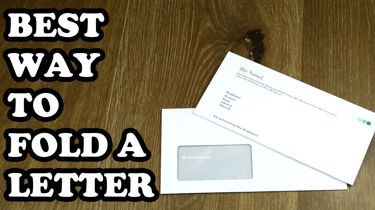 How To Fold A Letter Into A Window Envelope  A Letter For A
