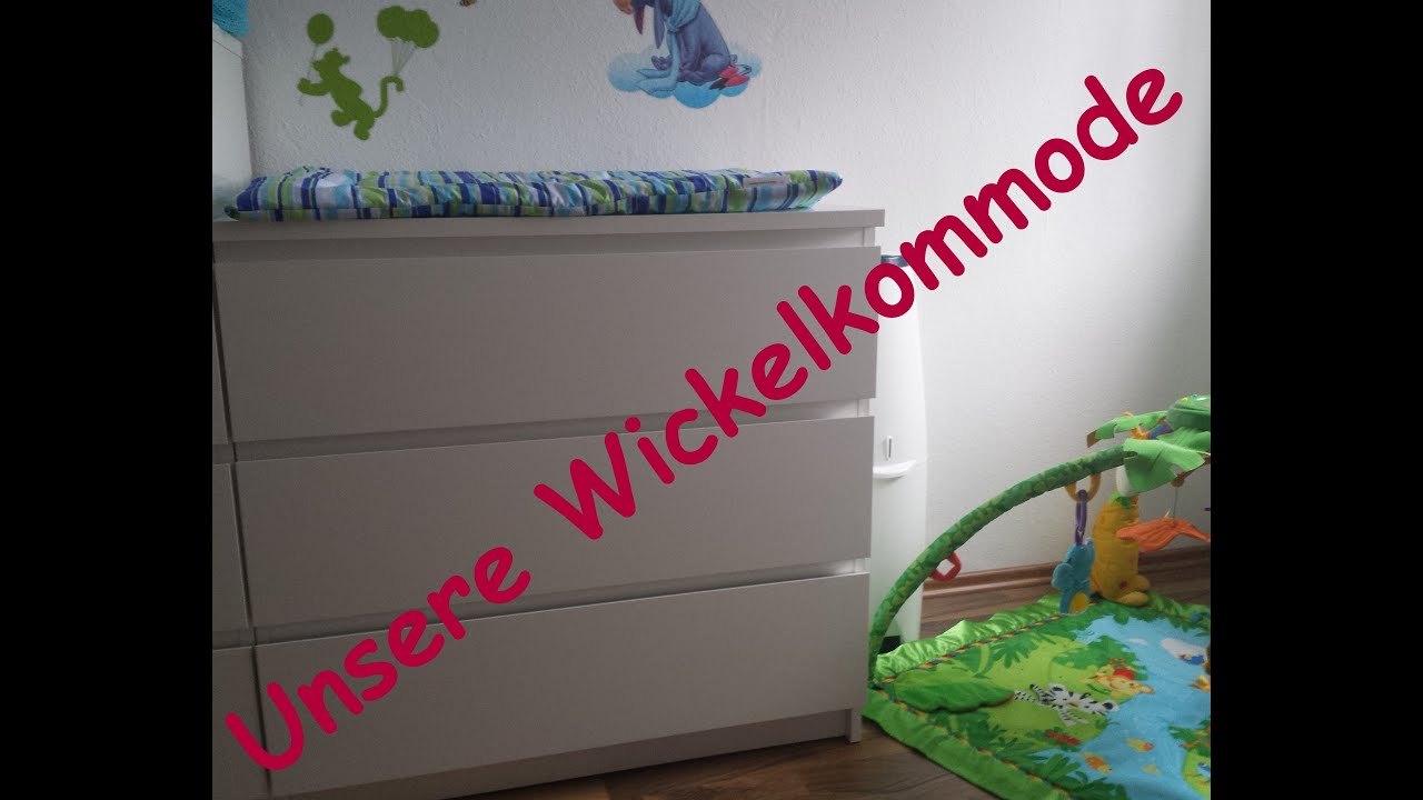unsere wickelkommode unser wickeltisch youtube. Black Bedroom Furniture Sets. Home Design Ideas