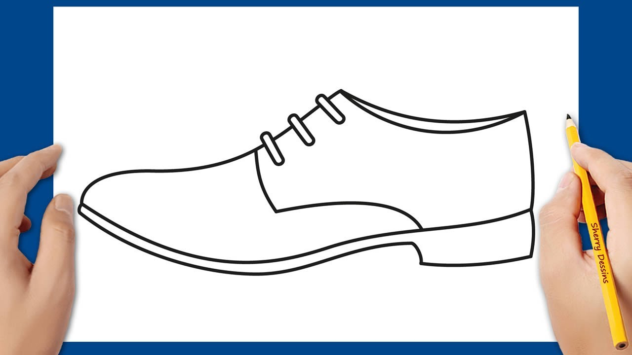 Comment Dessiner Une Chaussure How To Draw A Shoe For Men Step By Step Youtube