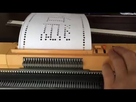 Homemade Punch Card For Standard Gauge Knitting Machine Hōseki Kitsune By Gemfox Youtube