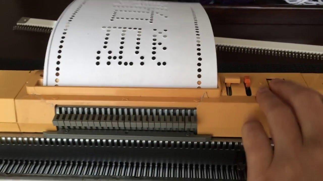 Homemade Punch Card For Standard Gauge Knitting Machine Hōseki