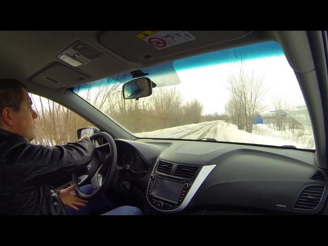 Руление при выбросе из колеи на скорости 50 км/ч