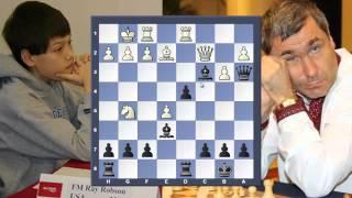 Ray Robson vs Vassily Ivanchuk. Красивая игра гения