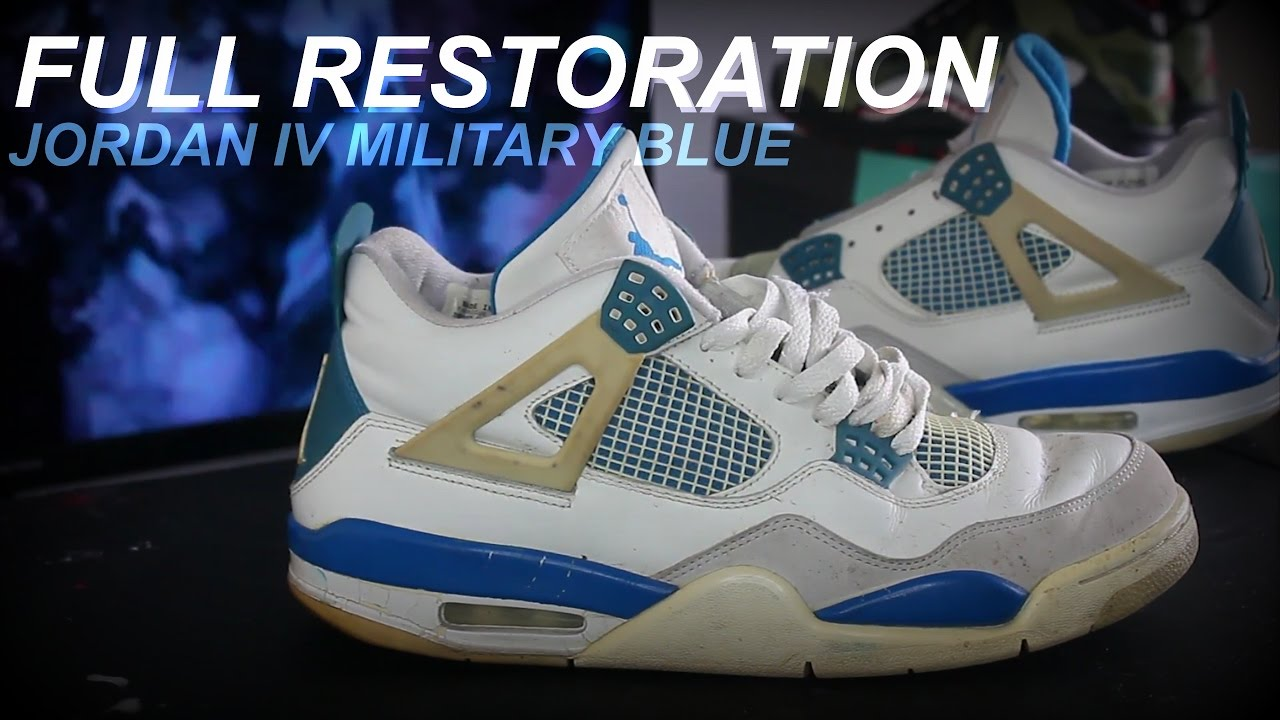 free shipping d8735 44ae9 2006 JORDAN IV MILITARY BLUE FULL RESTORATION