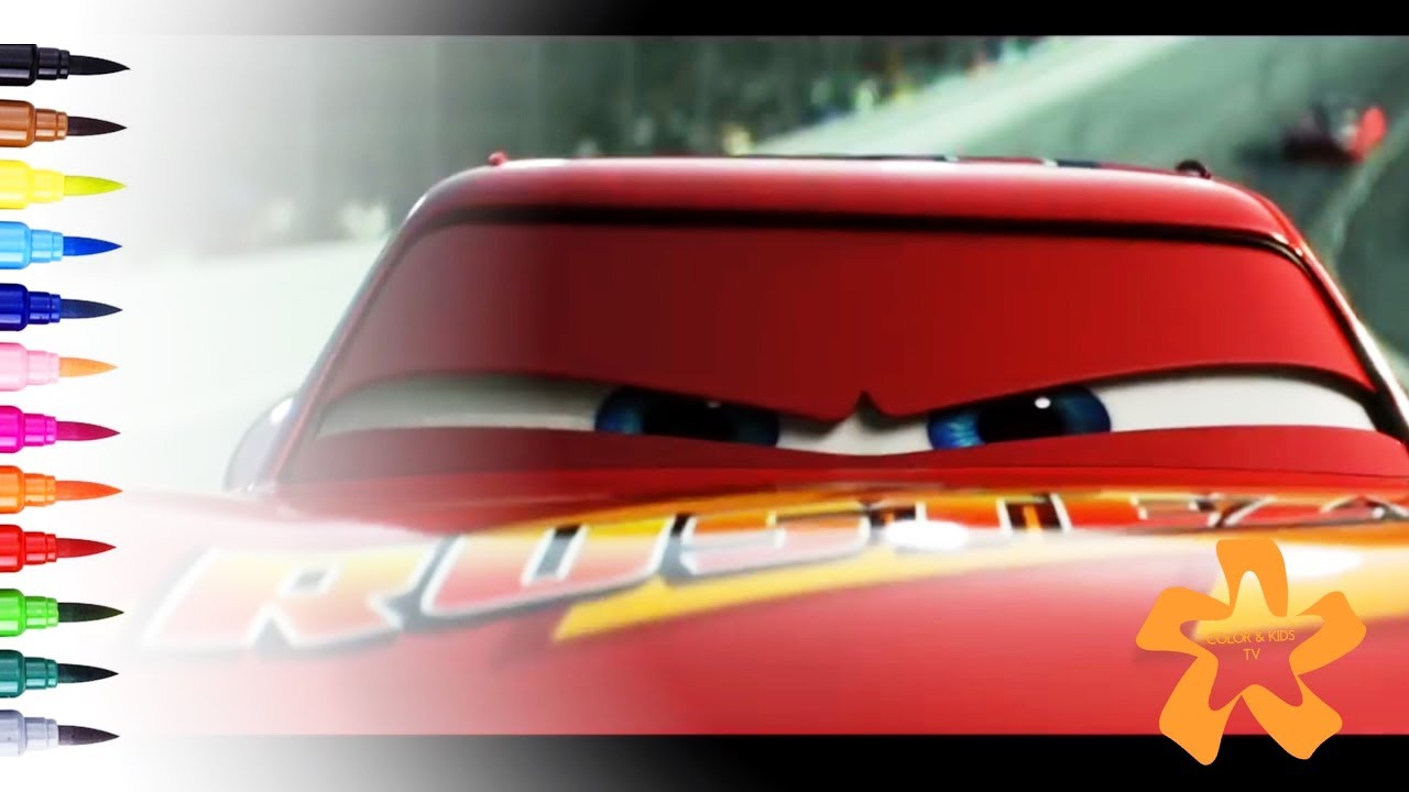 Cars 3 How To Draw And Color Lightning Mcqueen