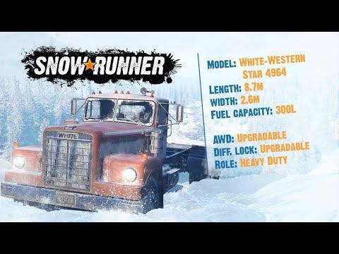 SnowRunner white westernstar 4964 location guide