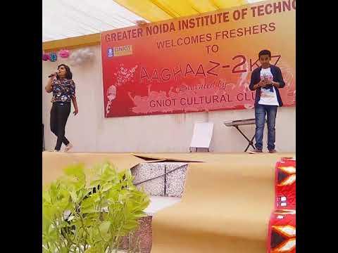 Teri Galiyaan full Hd video song on Aaghaaz 2k17 at Gniot college...