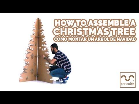como montar un rbol de navidad en cart n cartonlab