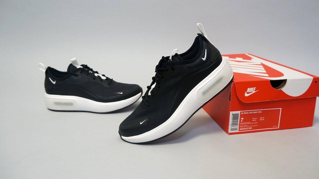 plan La oficina global  Nike Air Max Dia Black Summit White AQ4312-001 - YouTube