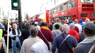 Hindu Converts chanting in Central London