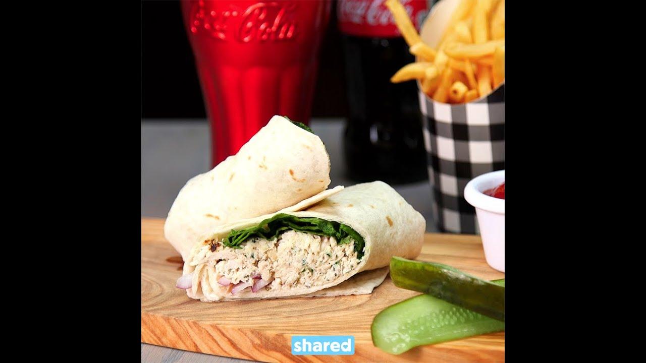 Chicken Caesar Wraps Lunch Youtube