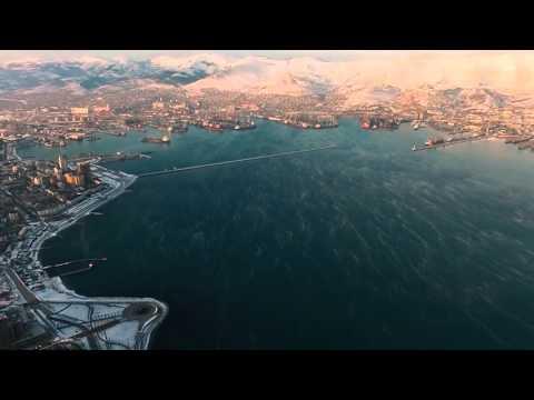Одно из первых хороших аэровидео про Новороссийск. Drone flying around port town Novorossiysk.