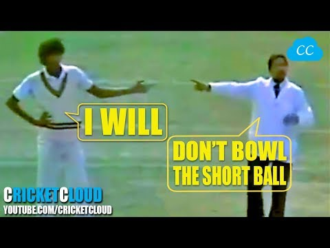 Wasim Akram's SHORT BALL CONTROVERSY - Umpire Warning - PERFECT REPLY FROM MIANDAD