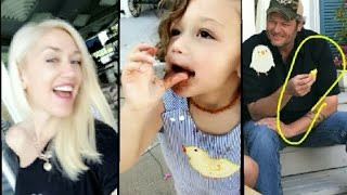 Gwen Stefani Easter Moment | Gwen Stefani Newest Snapchat Video Ft Blake Shelton