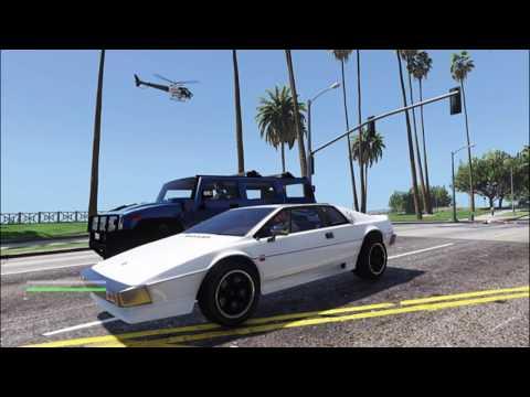 James Bond Lotus Esprit drive on water GTA V