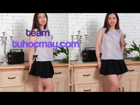 Hướng dẫn may áo sát nách – sewing summer shirt tutorial – tuhocmay.com