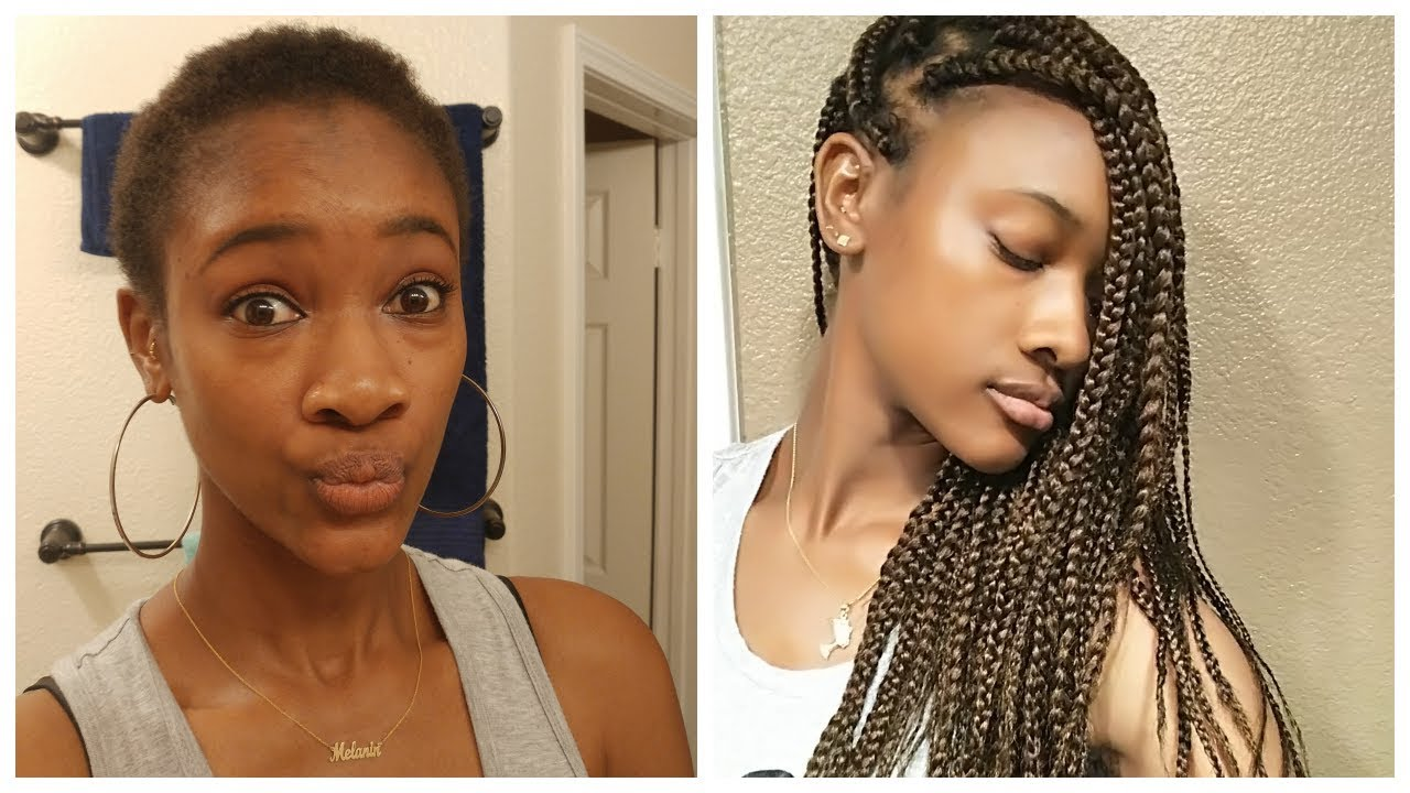 How To Do Box Braids On Very Short Hair Chit Chat Youtube