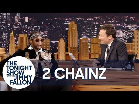 Thumbnail: 2 Chainz's Dog Trappy Falls Asleep in the Middle of His Interview