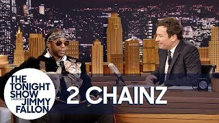 2 Chainz's Dog Trappy Falls Asleep in the Middle of His Interview thumbnail
