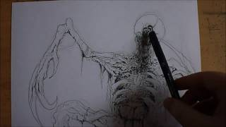 Drawing A Necromorph From Dead Space