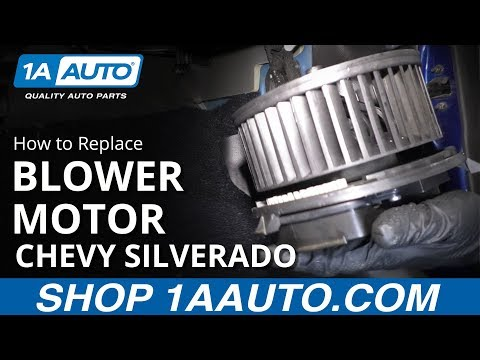 How to Replace Heater Blower Motor 14-19 Chevy Silverado