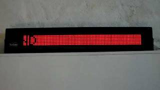 LED sign demonstration
