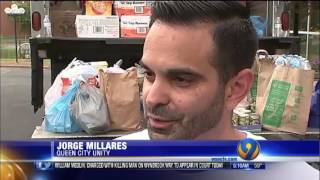Queen City Unity in the News- WSOC-TV 9 Food Drive