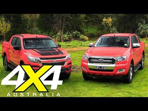 Holden Colorado Z71 vs Ford Ranger XLT review | Road test | 4X4 Australia
