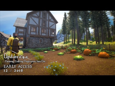 Medieval Engineers - Update 0.4.0 - Farming, Crafting Progression and Iron Ore
