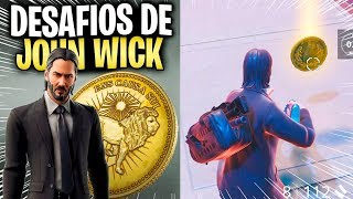 HOW TO COMPLETE ALL JOHN WICK CHALLENGES (FORTNITE THE WICK BUTTON)