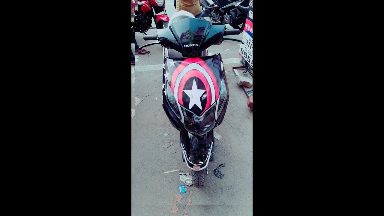 Honda dio modification captain america