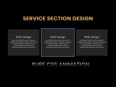 Our Service Section design using html and css