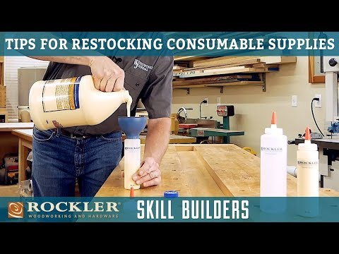 Tips for Restocking Shop Consumables   Rockler Skill Builders