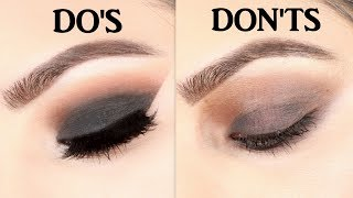 How to Apply Perfect Black Smokey Eyes Do's and Don'ts(HINDI)| Deepti