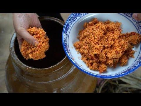 湖北特色美食:榨辣椒,妹子教你4种吃法,红红辣辣,看着都下饭
