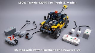 LEGO Technic 42079 Tow Truck (B model) RC mod with building instructions