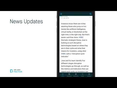 Factiva Mobile - Get the News You Need Overview