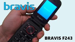 Раскладушка BRAVIS F243 Folder Dual Sim Red распаковка Всем Салют! ...