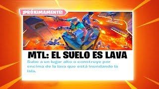 *NUEVO* MODO de JUEGO EL SUELO es LAVA!! FORTNITE 🌋😱