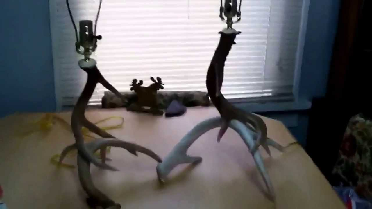 Antler lamps matching set of whitetail youtube antler lamps matching set of whitetail arubaitofo Images